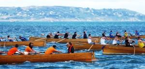 Row fast me 'arties